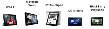 iPad 2 vs XOOM vs OptimusPad Vs Playbook Vs TouchPad (testata)