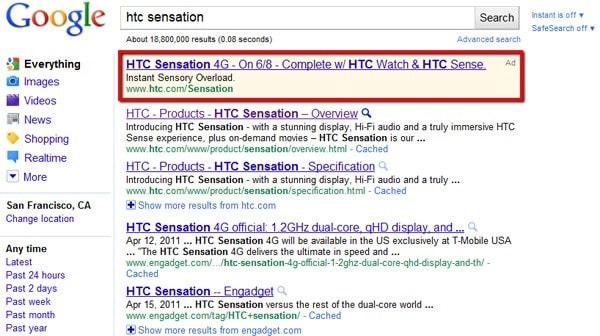 sensation google ads
