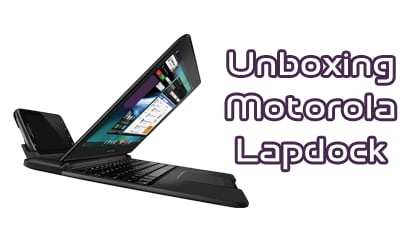 Motorola Lapdock, unboxing