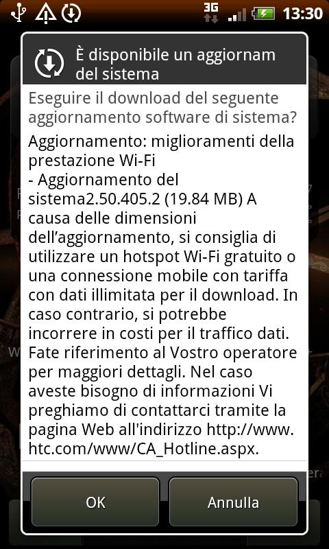 Aggiornamento HTC Desire HD