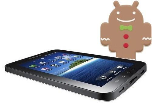 Galaxy Tab Gingerbread