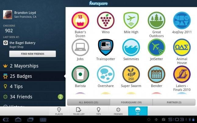 Foursquare tablet