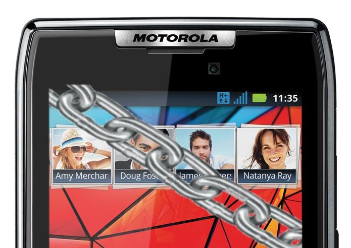 Motorola RAZR bloccato