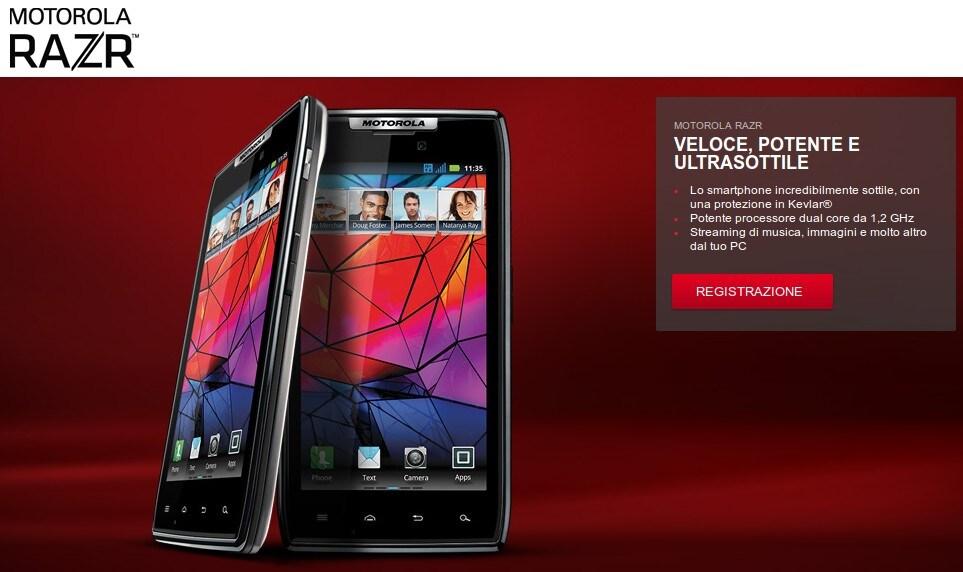 Motorola RAZR in Italia