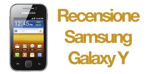 Recensione Samsung Galaxy Y