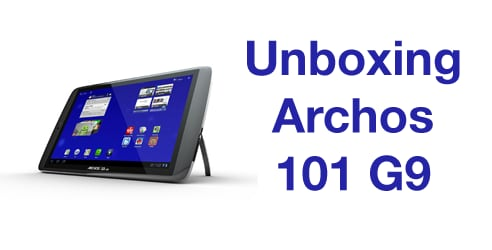 Unboxing Archos 101 G9