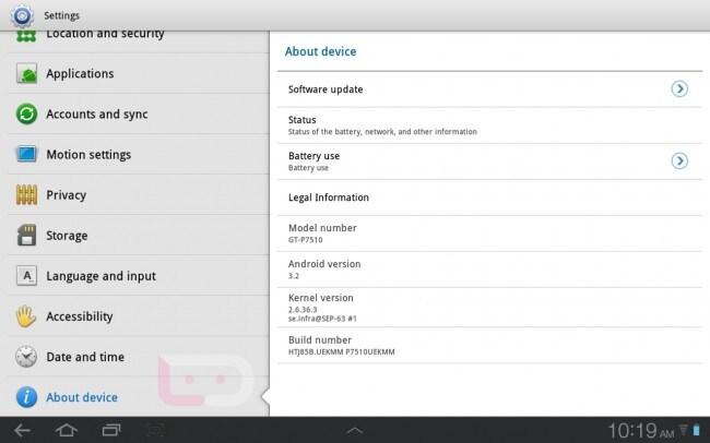 Update Galaxy Tab 10.1