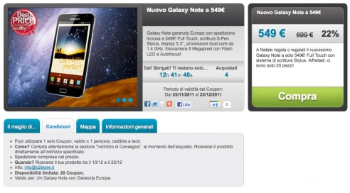 Galaxy Note su Gruopalia