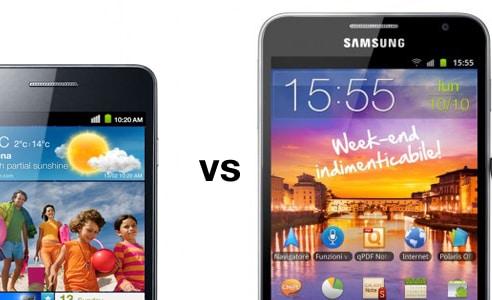 Galaxy S II vs Galaxy Note