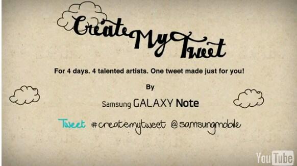 galaxy note tweet