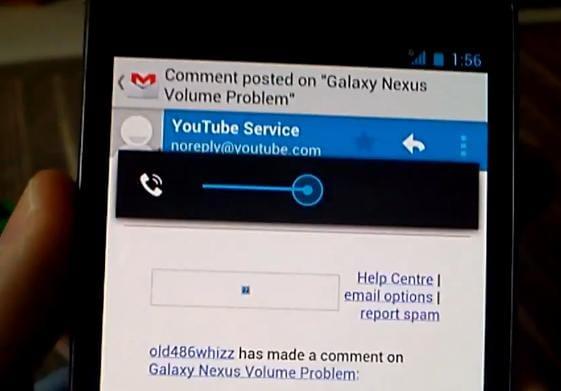 Bug Volume Galaxy Nexus