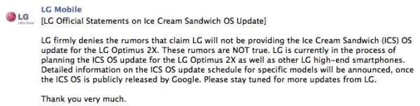 Android Ice Cream Sandwich (finalmente) in vista su Optimus Dual, Black e 3D