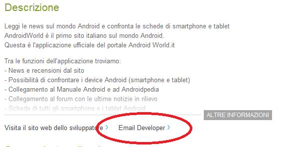 Email sviluppatori