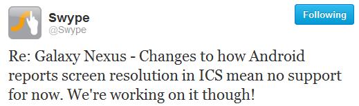 swipe ICS