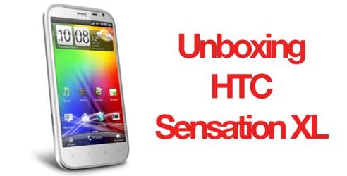 HTC Sensation XL unboxing