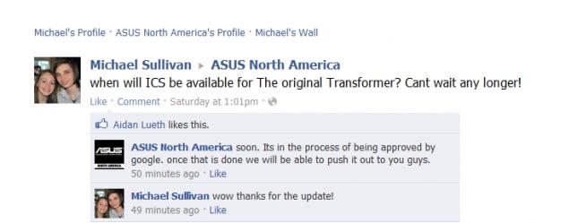 Asus eeepad transformer ICS