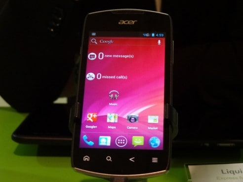 Acer Liquid Glow, prova MWC 2012
