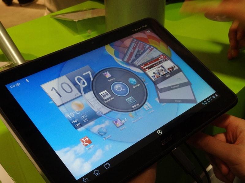 Acer Iconia Tab A510, prova MWC 2012