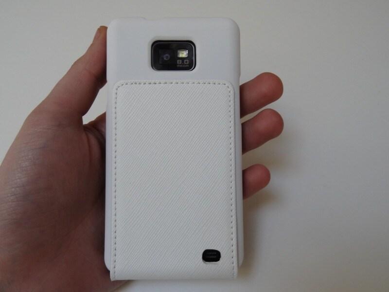 Custodia Flipper bianca per Samsung Galaxy SII