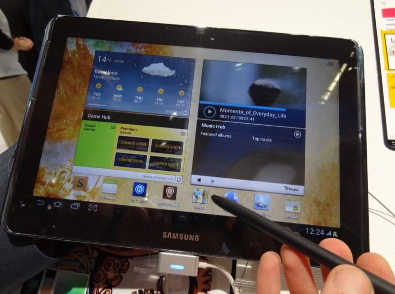 Samsung Galaxy Note 10.1, prova