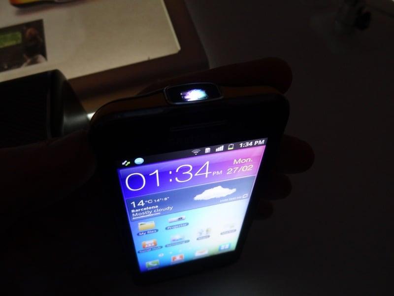 Samsung Beam, prova