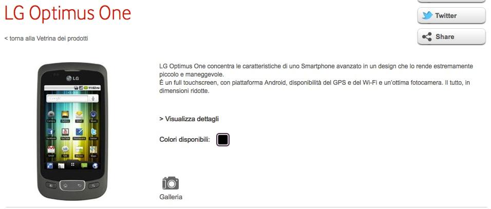 LG Optimus One a 99€