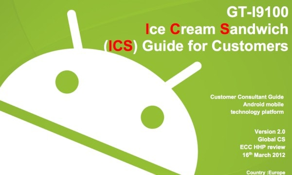 Ice Cream Sandwich guida