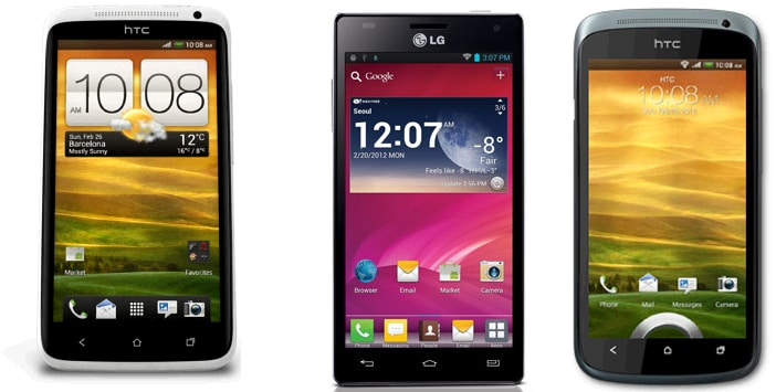 LCD Vs IPS Vs AMOLED (HTC One X Vs LG Optimus 4X HD Vs HTC One S)