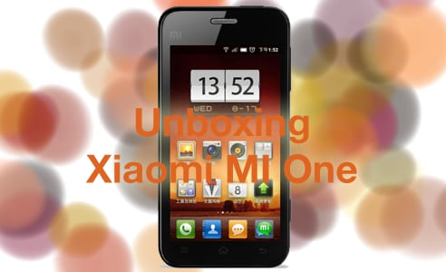 Xiaomi MI One Unboxing