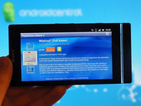 xperia s playstation