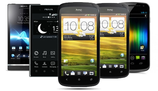 HTC One X vs HTC One S vs LG Prada 3.0 vs Sony Xperia S vs Samsung Galaxy Nexus vs MIUI Phone