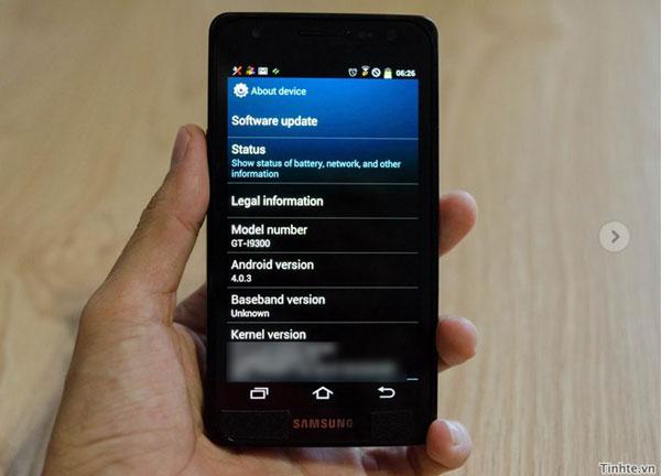 Samsung Galaxy S III leak