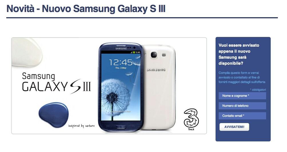 galaxy s 3 tre