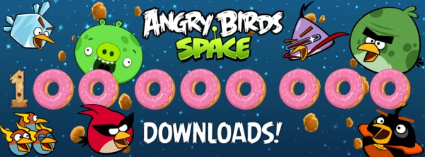 Angry Birds Space 100 milioni