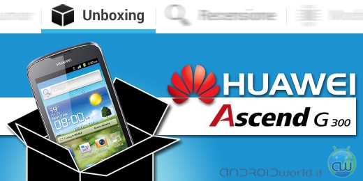 Huawei Ascend G 300 unboxing