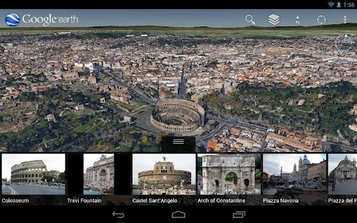 Google Earth 7 per Android porta sé le foto aeree