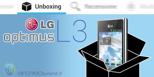 LG Optimus L3 unboxing
