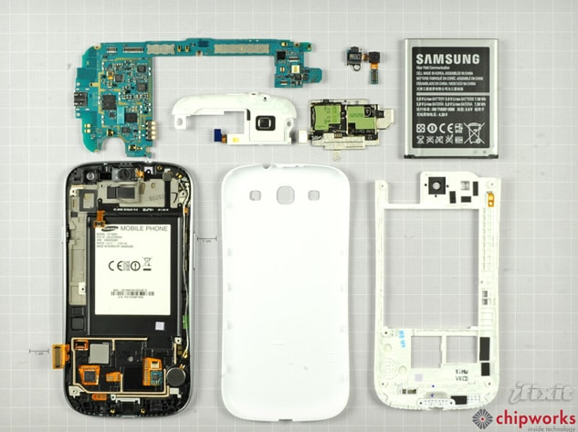 Samsung Galaxy S III disassemblato