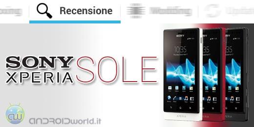 Sony Xperia Sole recensione