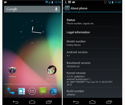 jelly bean nexus