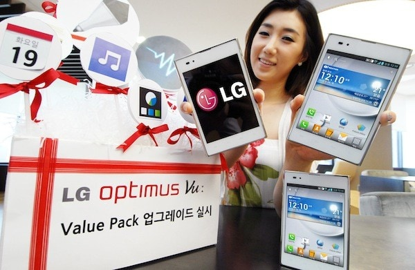 LG Optimus Vu passa ad Ice Cream Sandwich in Corea
