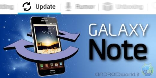 Samsung Galaxy Note aggiornamento