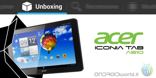 acer iconia tab a510 il nostro unboxing androidworld. Black Bedroom Furniture Sets. Home Design Ideas
