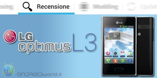 LG Optimus L3 recensione