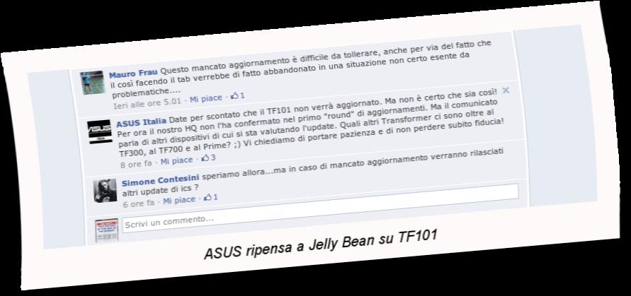 ASUS ripensa a JB su TF101