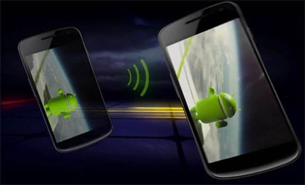 Android Beam su Jelly Bean