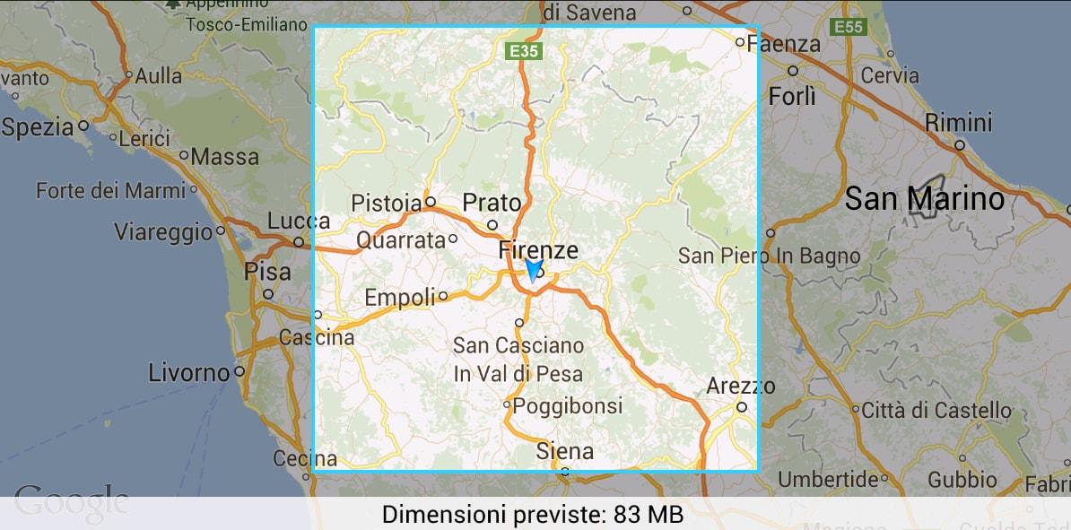 Google Maps offline in Italia