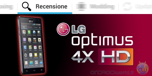 LG Optimus 4X HD recensione