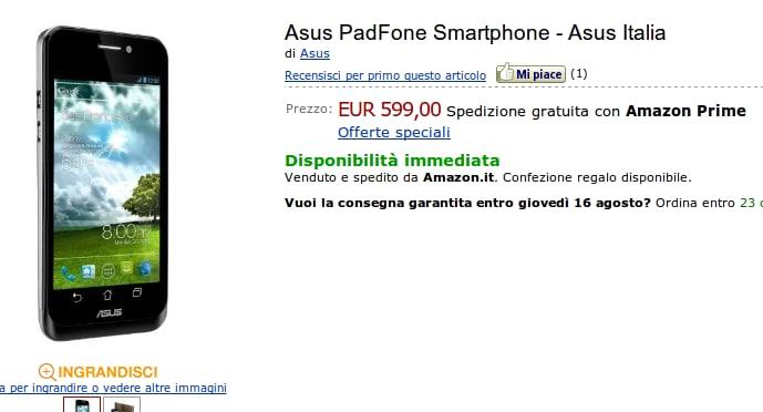 ASUS Padfone su Amazon