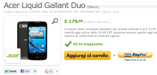 Acer Liquid Gallant Duo Expansys